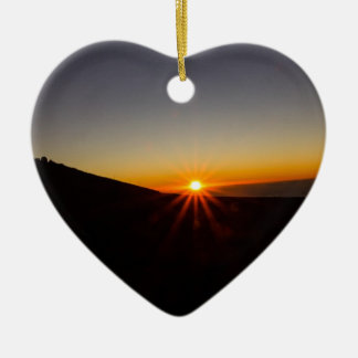 Sunset on Haleakala Volcano Christmas Ornament
