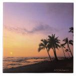 Sunset on Kahaluu Bay in Kona,Hawaii 2