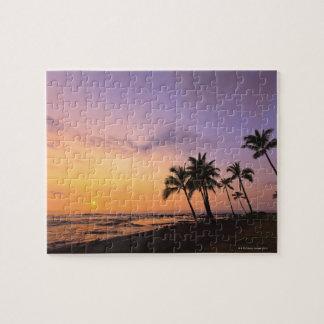 Sunset on Kahaluu Bay in Kona,Hawaii 2 Jigsaw Puzzle
