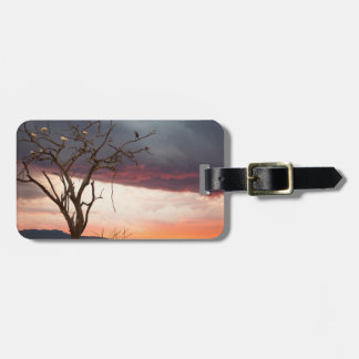 Sunset On Kandheri Swamp With African Spoonbills Luggage Tag