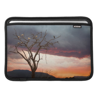 Sunset On Kandheri Swamp With African Spoonbills MacBook Air Sleeves