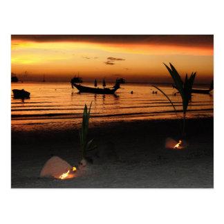 Sunset on Koh Tao Postcard