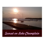 Sunset on Lake Champlain Burlington Vermont Post Cards
