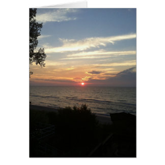 Sunset on Lake Michigan Cards