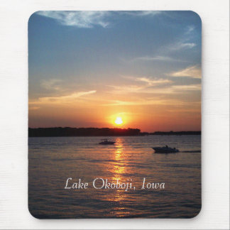 Sunset on Lake Okoboji, Iowa Mouse Mat