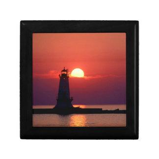 Sunset On Lighthouse Gift Box