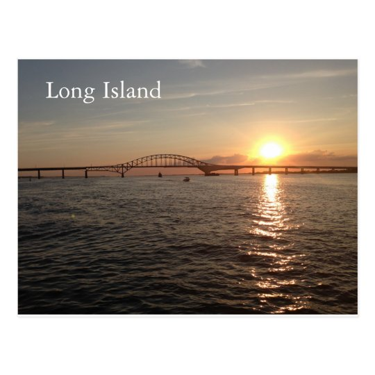 Sunset on Long Island Postcard