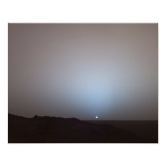 Sunset On Mars- Taken From The Mars Rover- 5-19-05 Poster