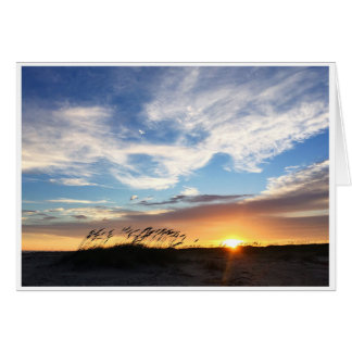 Sunset on Matagorda Beach, 7x5 greeting card