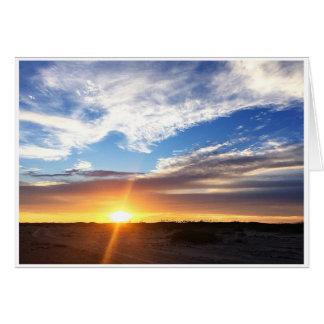 Sunset on Matagorda Beach Card