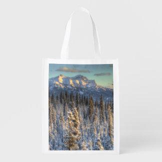 Sunset on Mount Fellows Reusable Grocery Bag