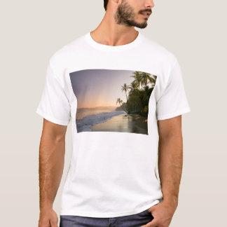 Sunset On Palm Fringed Beach, Costa Rica T-Shirt