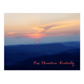 Sunset on Pine Mountain by JerseyFawn Postcard