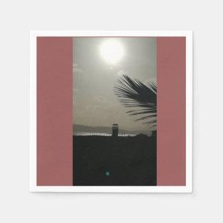 Sunset on Poetto beach Paper Napkin