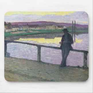 Sunset on Pont-Aven - Henri Lebasque Mouse Pad