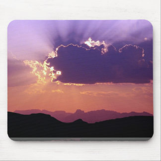 Sunset on Rio Grande Big Bend National Park Texa Mousepads
