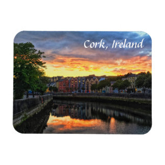 Sunset on River Lee, Cork Ireland Magnet