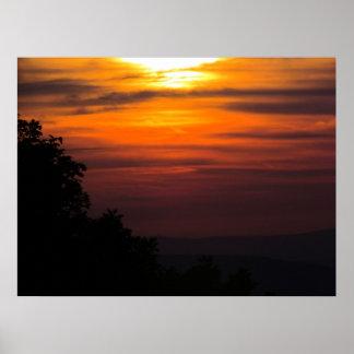 Sunset on Shenandoah Poster