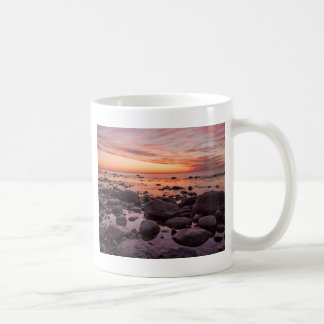 Sunset on shore of the Baltic Sea Basic White Mug