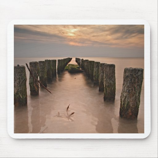 Sunset on shore of the Baltic Sea Mouse Pads