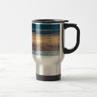 Sunset on shore of the Baltic Sea Stainless Steel Travel Mug