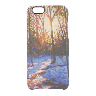 Sunset on snow 2010 clear iPhone 6/6S case