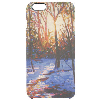 Sunset on snow 2010 clear iPhone 6 plus case