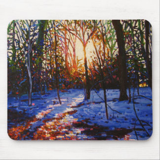 Sunset on snow 2010 mouse mat