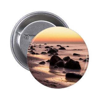 Sunset on the Baltic Sea coast 6 Cm Round Badge
