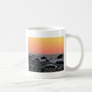 Sunset on the Baltic Sea coast Basic White Mug