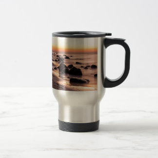 Sunset on the Baltic Sea coast Stainless Steel Travel Mug