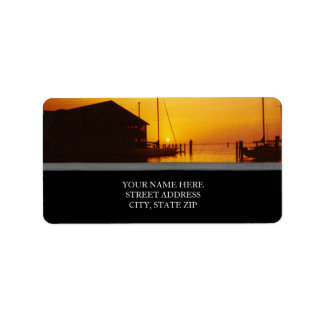 Sunset on the Bay Address Labels