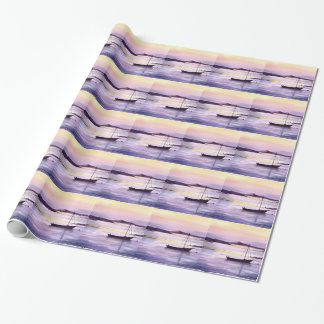 Sunset on the bay wrapping paper