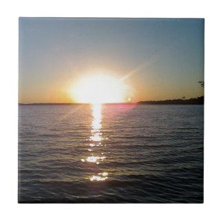 Sunset on the Bayou Tile