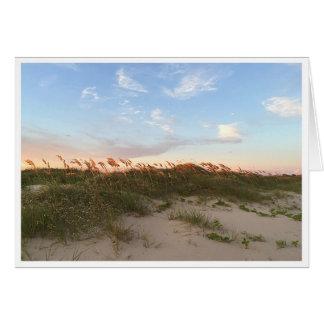 Sunset on the Beach Card