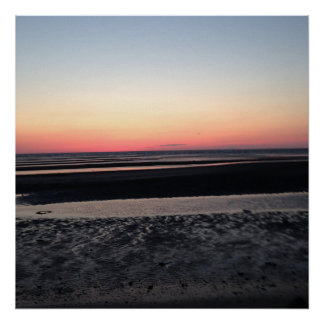 Sunset on the Beach in New Jersey Print
