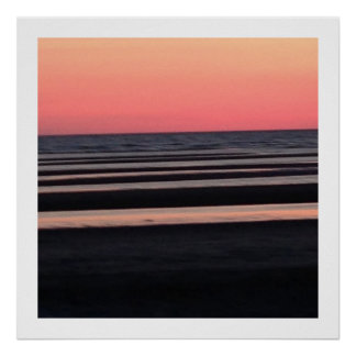 Sunset on the Beach in New Jersey Poster
