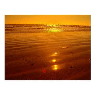 Sunset on the beach in Oceanside, California Postcard