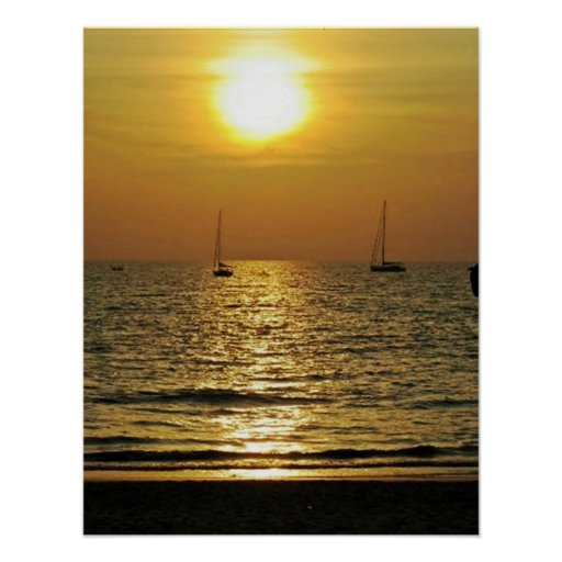 SunSet On The Beach Posters