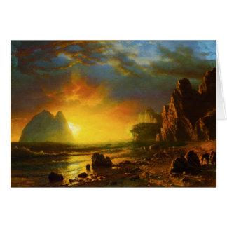 Sunset on the California Coast Greeting Card