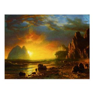 Sunset on the California Coast Postcard