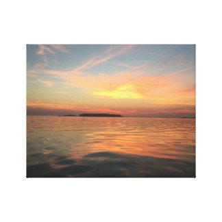 Sunset on The Chesapeake bay Canvas Print