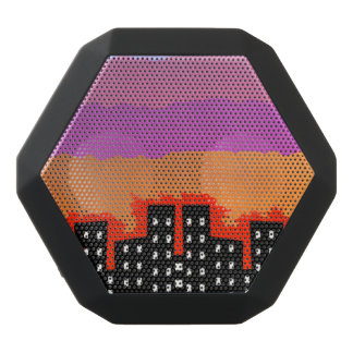 Sunset on the City Black Bluetooth Speaker