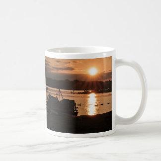 Sunset on the Docks Basic White Mug