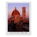Sunset on the Duomo Posters