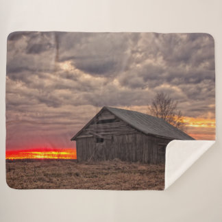 SUNSET on the FARM Sherpa Blanket
