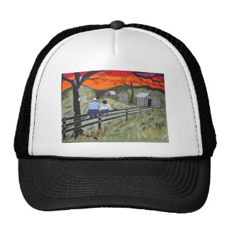 Sunset on the Fence Mesh Hats