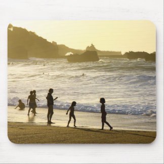 Sunset On The French Beach Landscape Mousepad