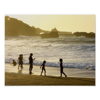 Sunset On The French Beach Landscape Poster