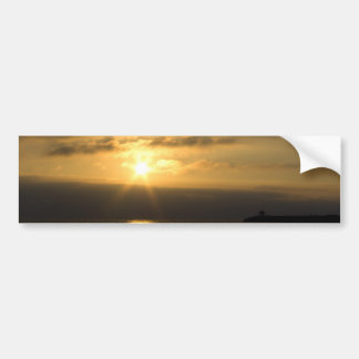 Sunset on the french coast of atlantic ocean bumper sticker